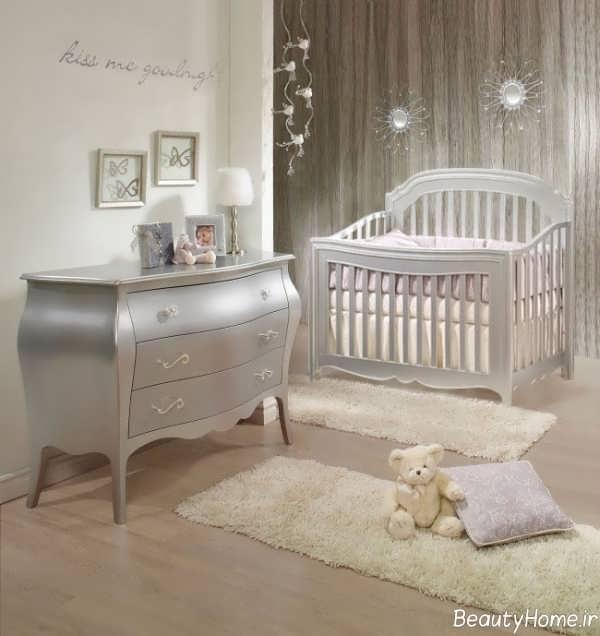 دکوراسیون کلاسیک اتاق نوزاد