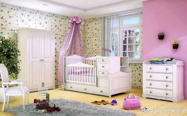 تخت و کمد نوزاد