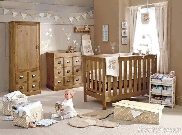 سرویس خواب چوبی برای نوزاد