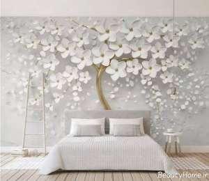 کاغذ دیواری سه بعدی و طرح برجسته