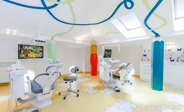 دکوراسیون زیبا و مدرن مطب اطفال