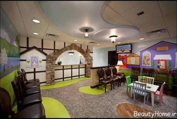 طراحی داخلی زیبا و شیک مطب پزشکی