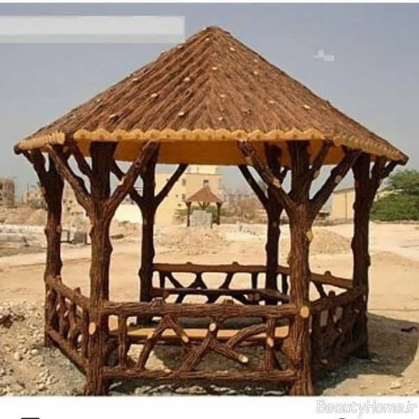 مدل سایبان طرح چوب