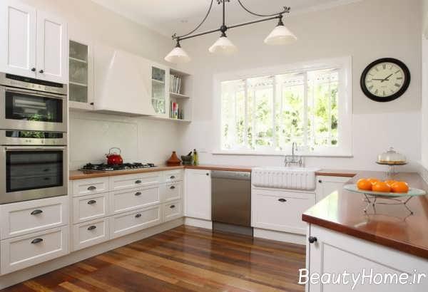 دکوراسیون کلاسیک و زیبا آشپزخانه