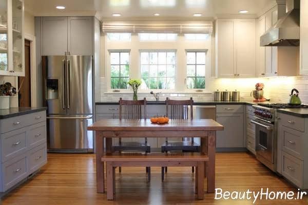 طراحی داخلی کلاسیک آشپزخانه
