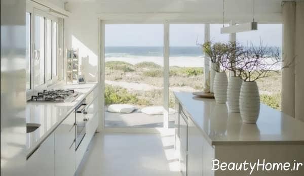 طراحی دکوراسیون آشپزخانه های پنجره دار