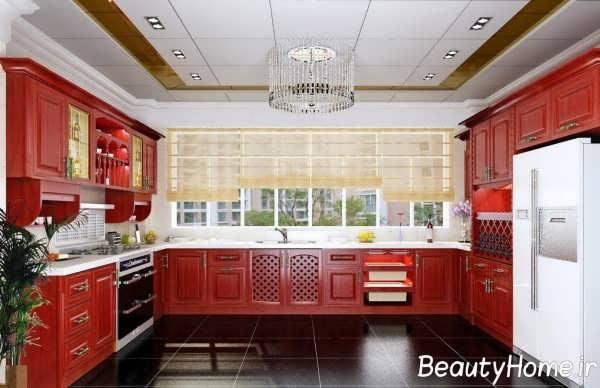 دکوراسیون مدرن آشپزخانه پنجره دار