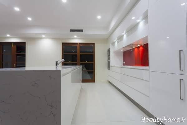 کابینت سفید آشپزخانه