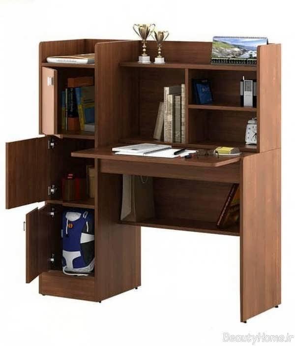 مدل میز تحریر کتابخانه دار زیبا