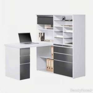 مدل های میز تحریر همراه با قفسه کتاب