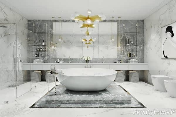 دکوراسیون لاکچری و لوکس حمام