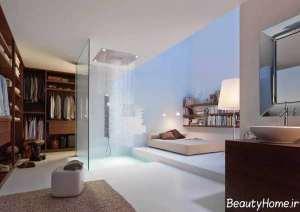 دکوراسیون زیبا و لوکس حمام مستر