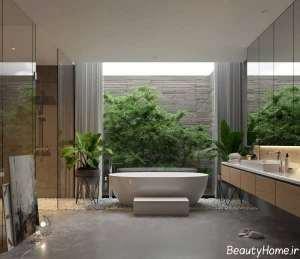 دیزاین داخلی حمام مستر