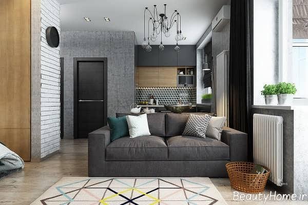 طراحی داخلی خانه آپارتمانی کوچک
