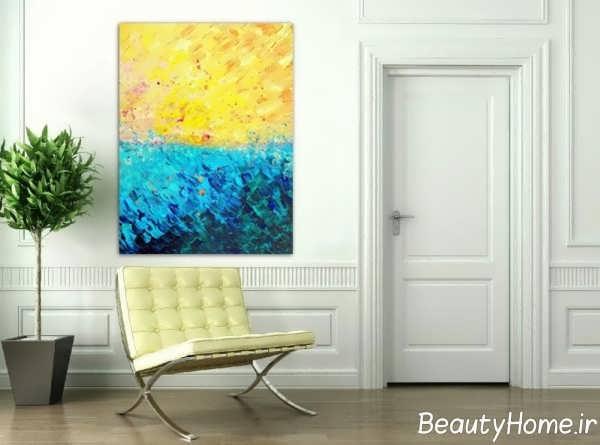 مدل تابلو دیواری دو رنگ