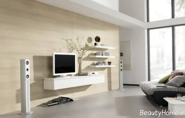 باکس دیواری سفید تلویزیون