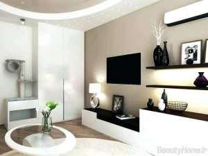 باکس دیواری سفید و مشکی مخصوص تلویزیون