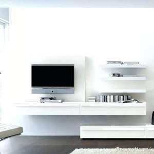 باکس دیواری سفید مخصوص تلویزیون