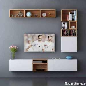 شلف دیواری ساده تلویزیون