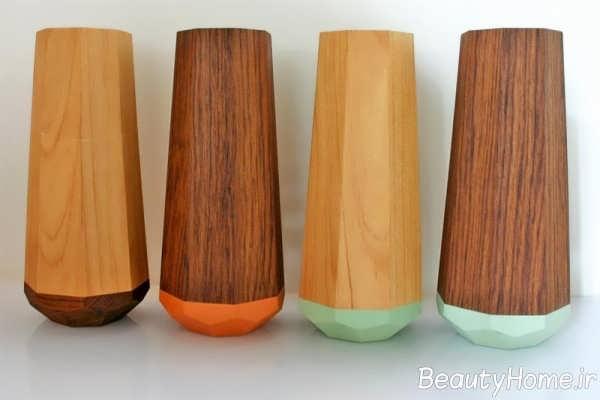 مدل گلدان با طرح چوب