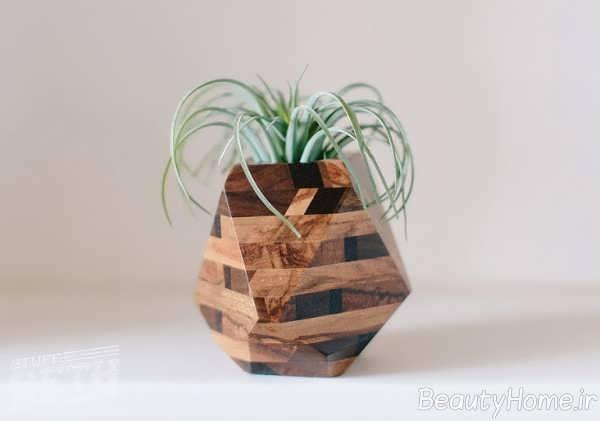 گلدان با شکل هندسی