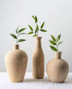 گلدان ساده چوبی