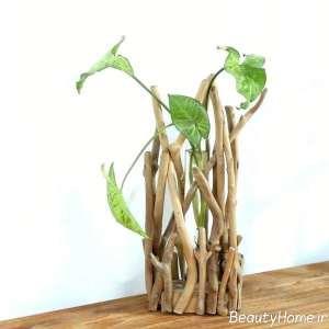 گلدان فانتزی چوبی