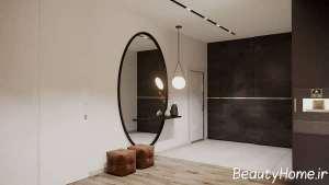 طراحی جذاب آینه پذیرایی