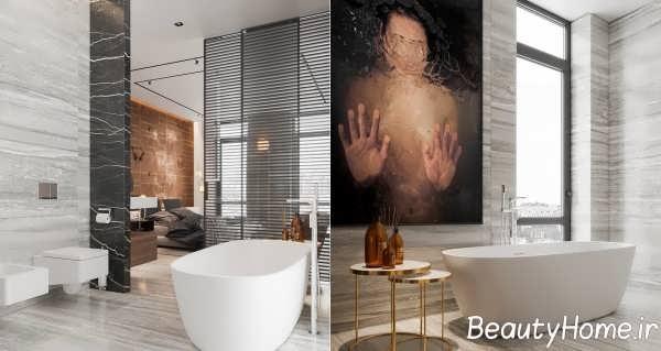 طراحی حمام تیره