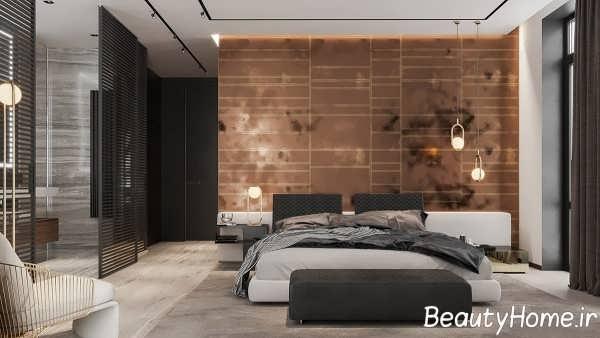 اتاق خواب با تم تیره