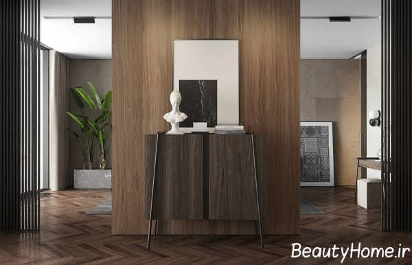 طراحی زیبای اتاق با طرح تیره