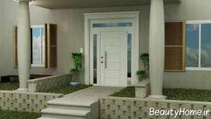 درب ویلا با تم سفید