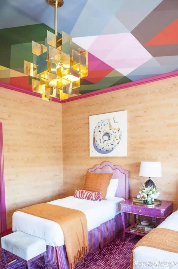کاغذ دیواری سقفی اتاق خواب