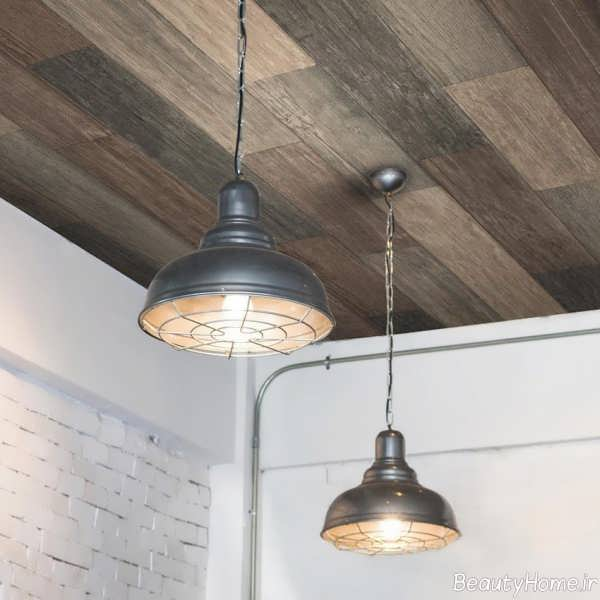 کاغذ سقفی طرح چوب
