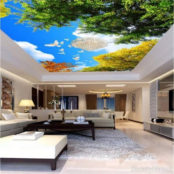 کاغذ دیواری پوستری مخصوص سقف
