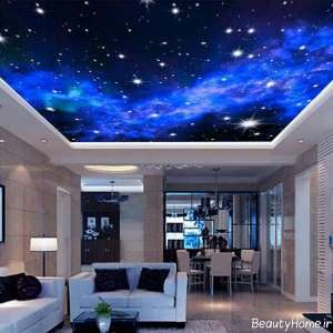 کاغذ دیواری طرح شب