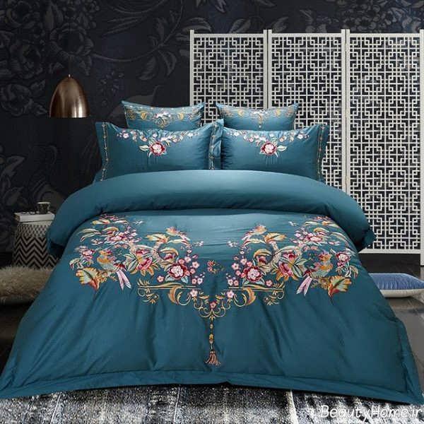 روکش تخت خواب طرح دار