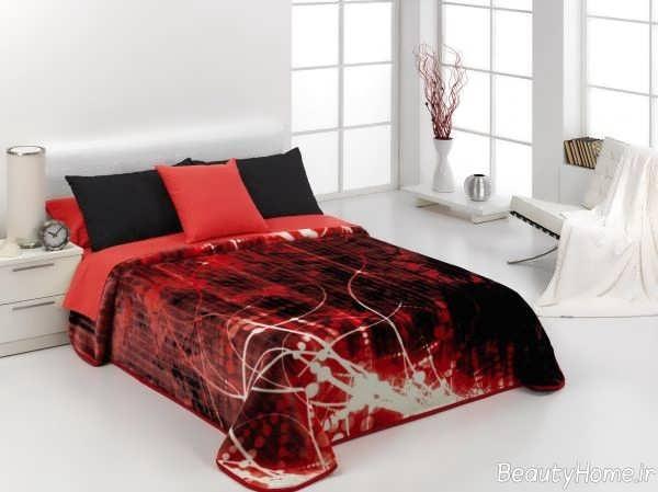 روکش تخت خواب زرشکی