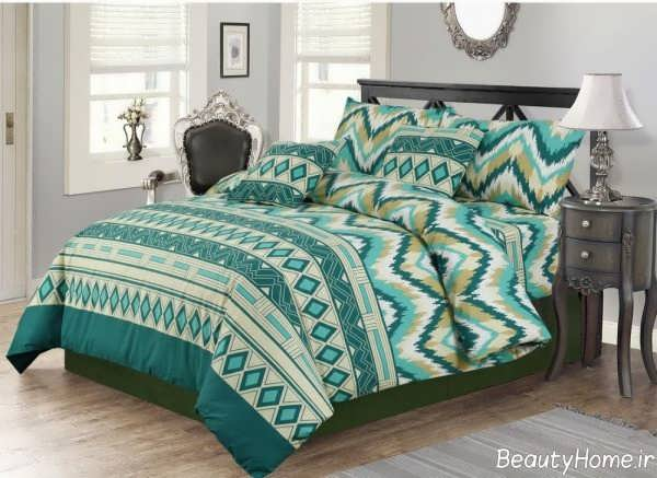 روکش تخت خواب طرح دار و شیک