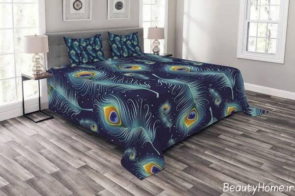 روکش تخت خواب طرح دار و زیبا