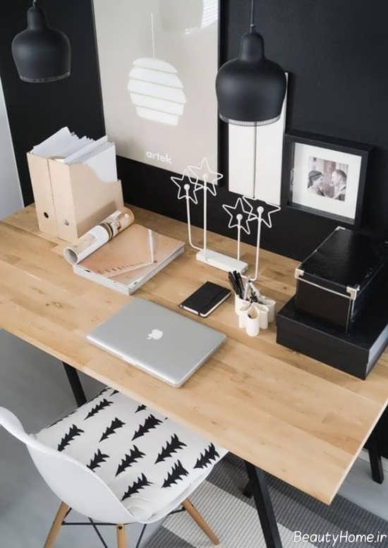 تزیین شیک و ساده میز کار