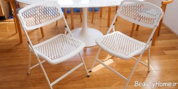 صندلی تاشو سفید