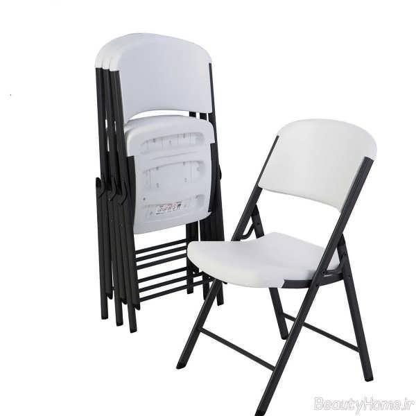 صندلی سفید و مشکی