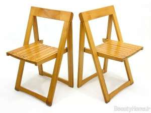صندلی تاشو و چوبی
