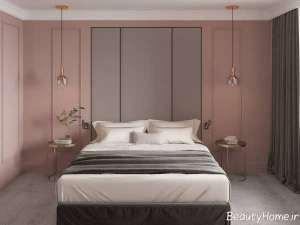 اتاق خواب مدرن و صورتی