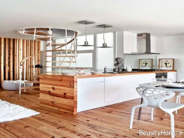 دکوراسیون آشپزخانه دوبلکس