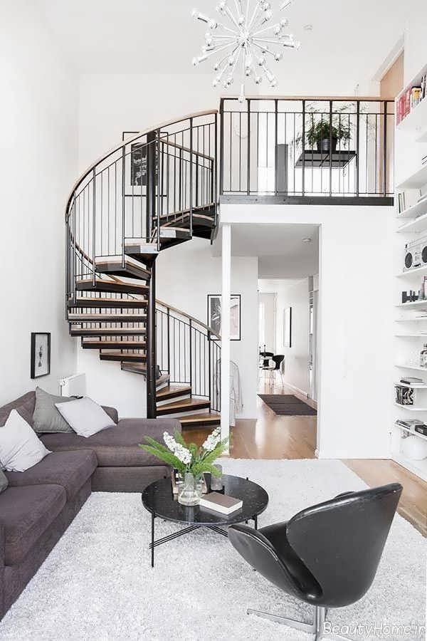 دیزاین داخلی خانه دوبلکس کوچک