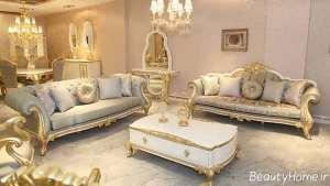 مدل مبل کلاسیک و سفید