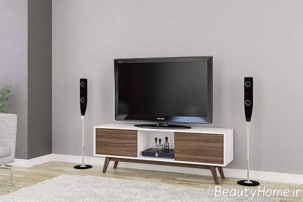 میز تلویزیون با طرح پایه دار