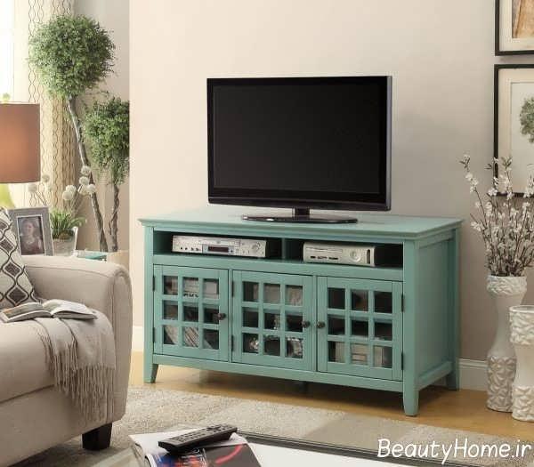 میز تلویزیون 98 با تم سبز رنگ